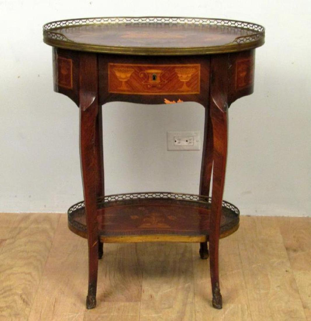 H. B. Herts & Sons Two Tier Table