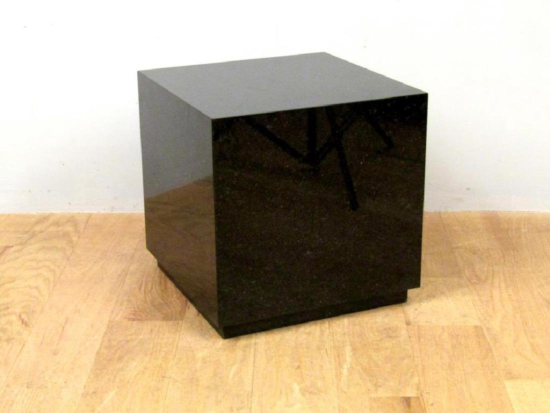 Black Marble Cube Table