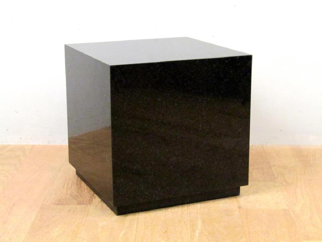 Black Marble Cube Table - 2