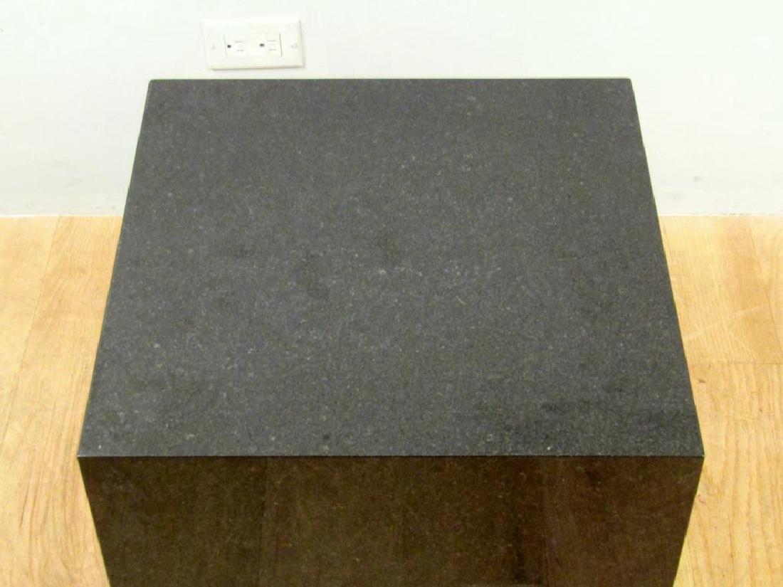 Black Marble Cube Table - 3