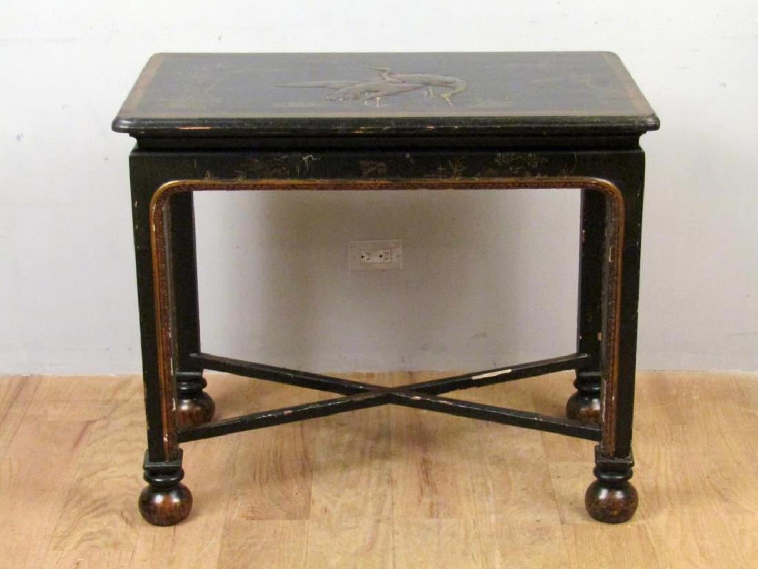 Antique English Japanned Console