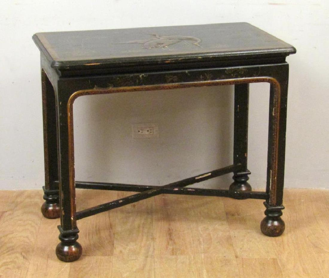 Antique English Japanned Console - 2