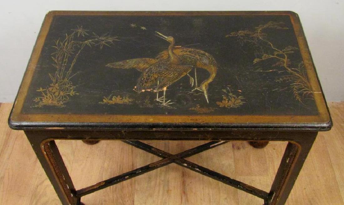 Antique English Japanned Console - 3