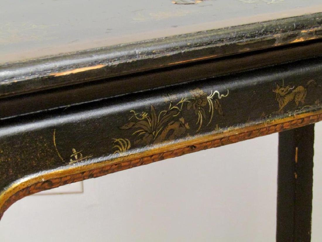 Antique English Japanned Console - 6