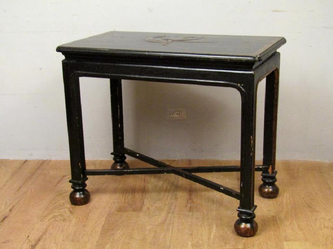 Antique English Japanned Console - 9