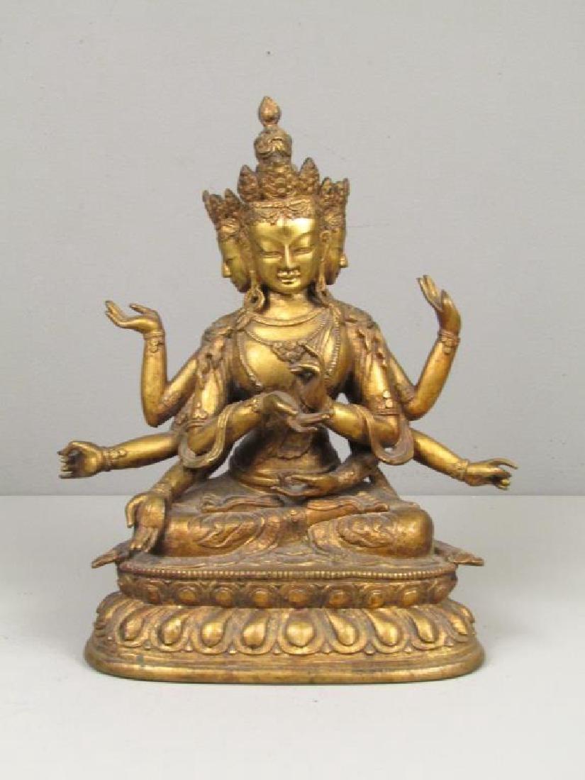 Gilt Bronze Bodhisattva