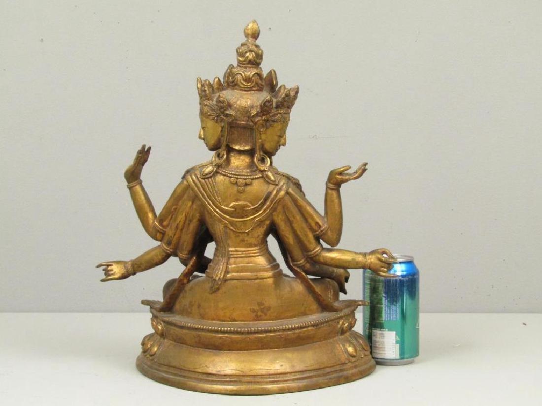 Gilt Bronze Bodhisattva - 2
