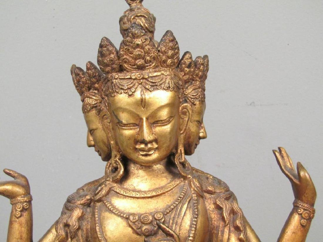 Gilt Bronze Bodhisattva - 3