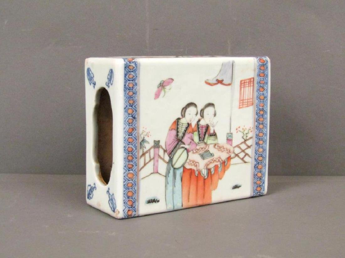 19th Century Chinese Porcelain Small Pillow