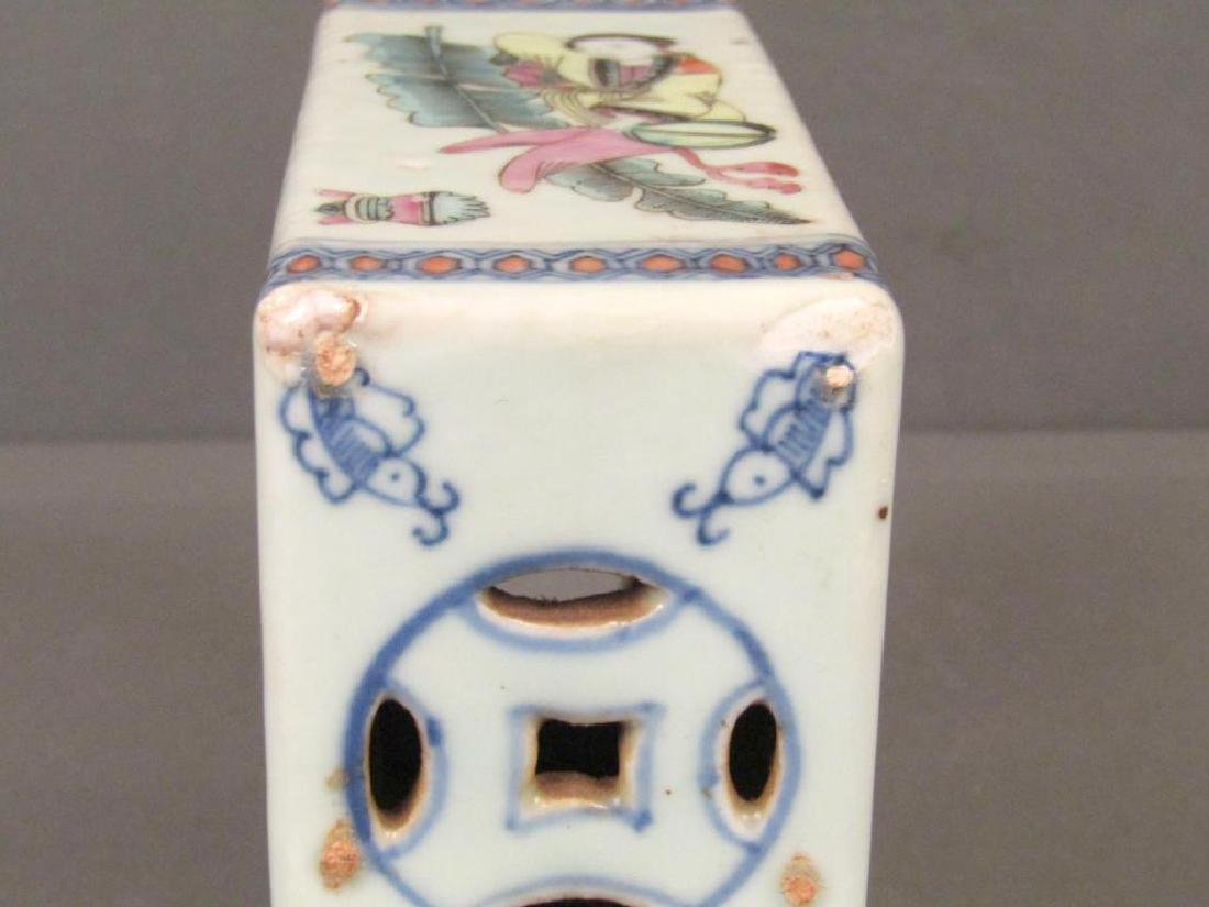 19th Century Chinese Porcelain Small Pillow - 6