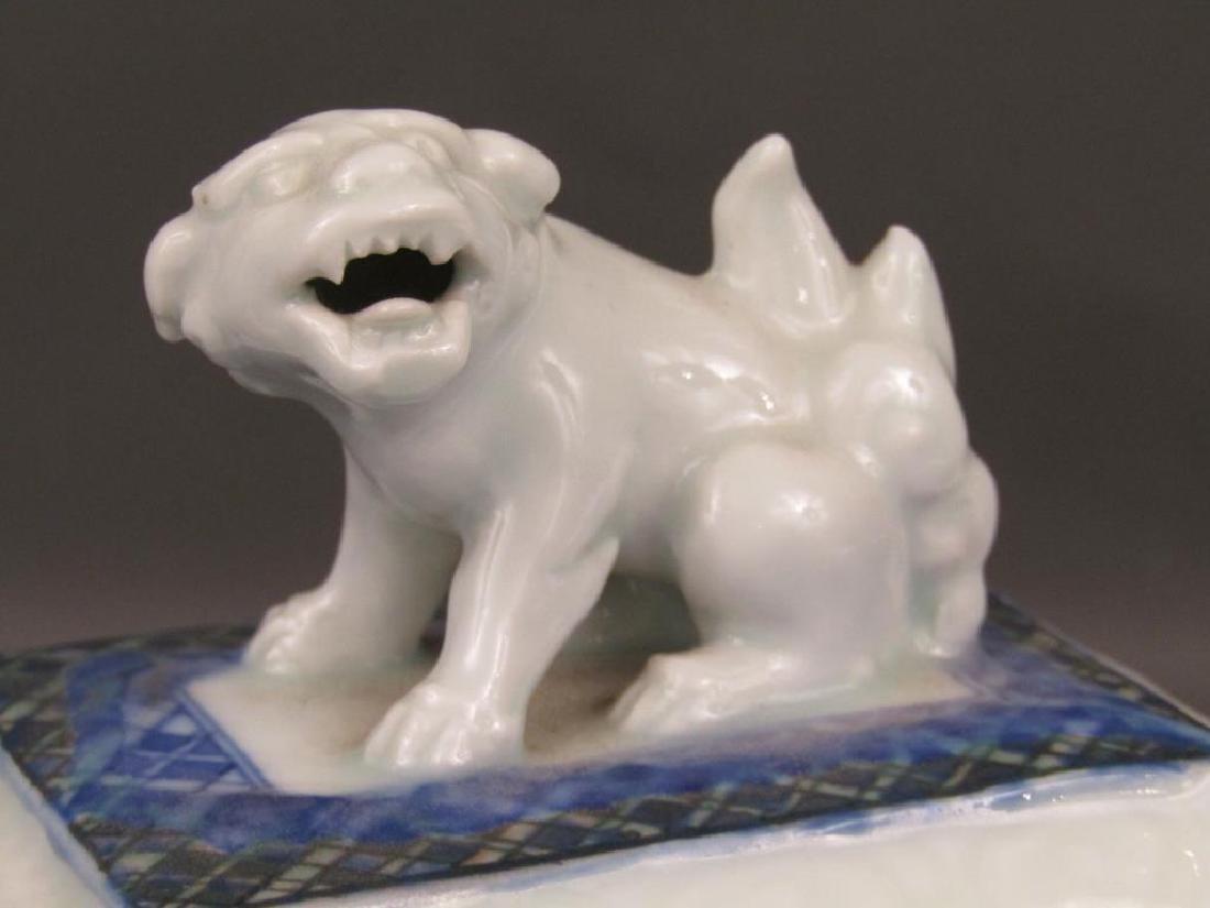 Japanese Porcelain Covered Koro - 3