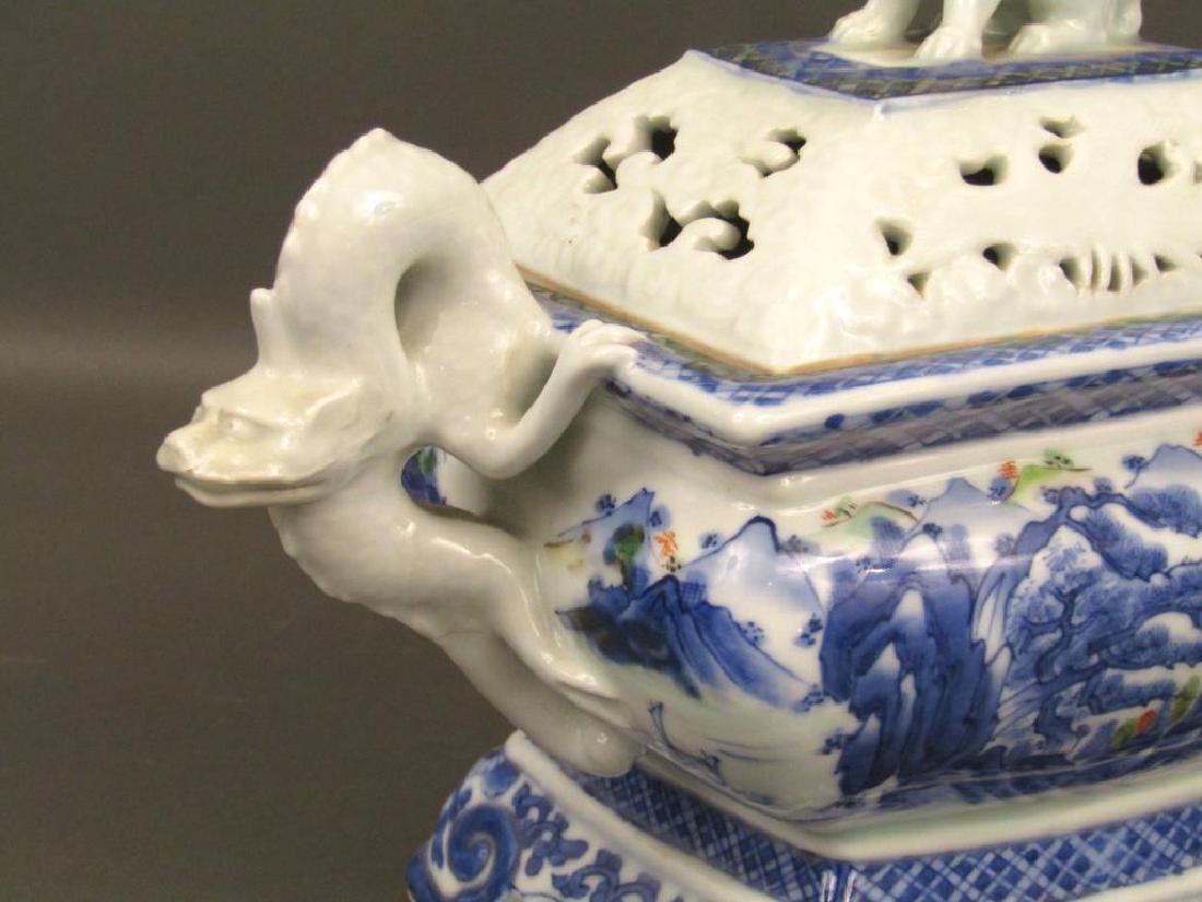 Japanese Porcelain Covered Koro - 4