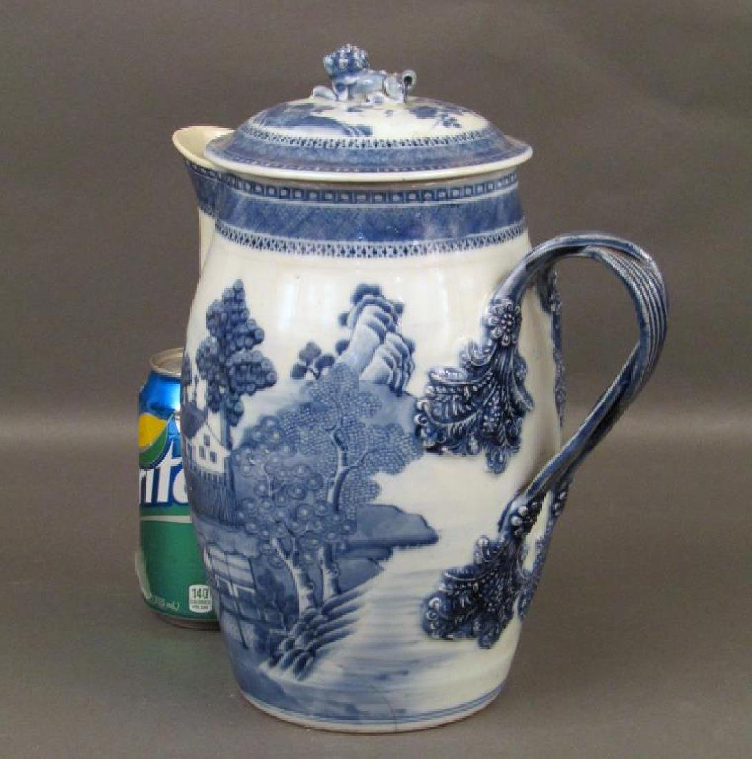 Chinese Blue and White Covered Pitcher - 2