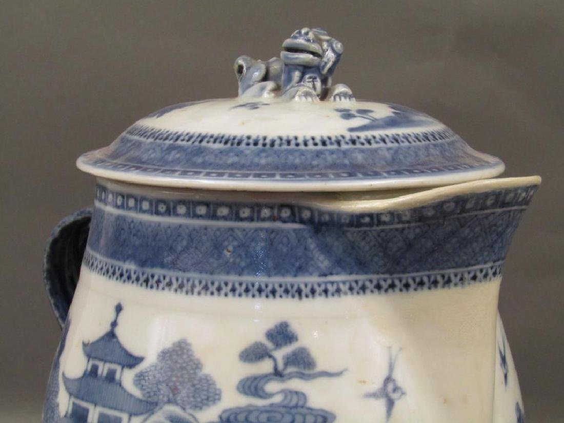 Chinese Blue and White Covered Pitcher - 4