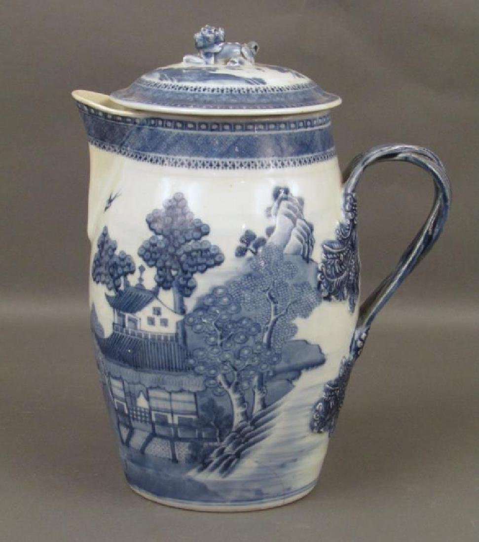 Chinese Blue and White Covered Pitcher - 5