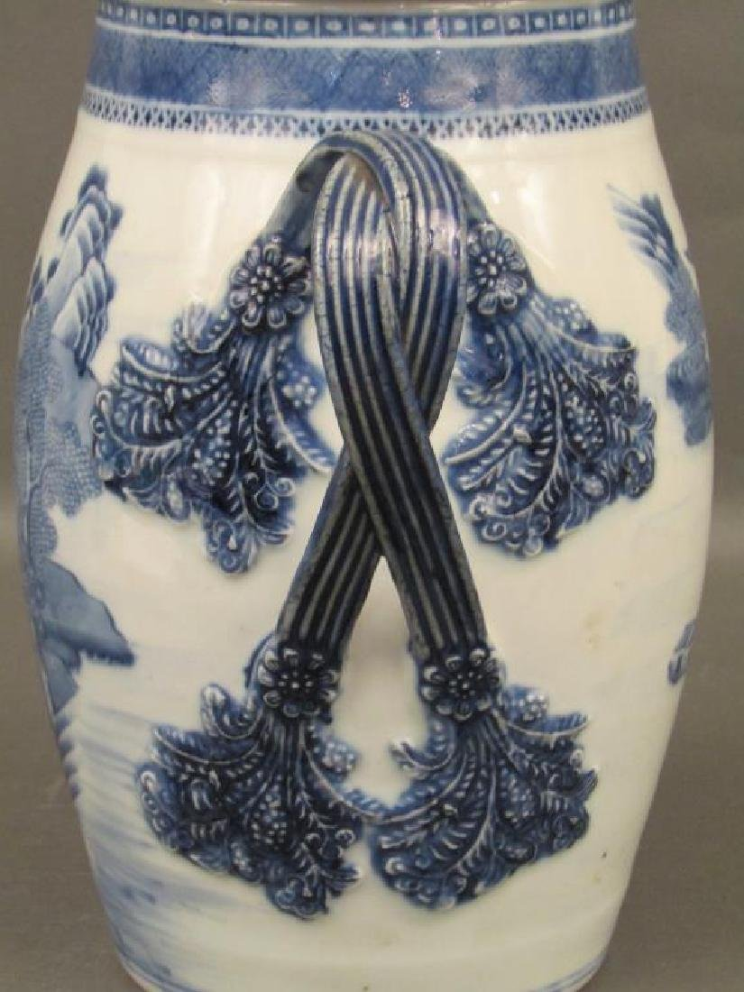 Chinese Blue and White Covered Pitcher - 6