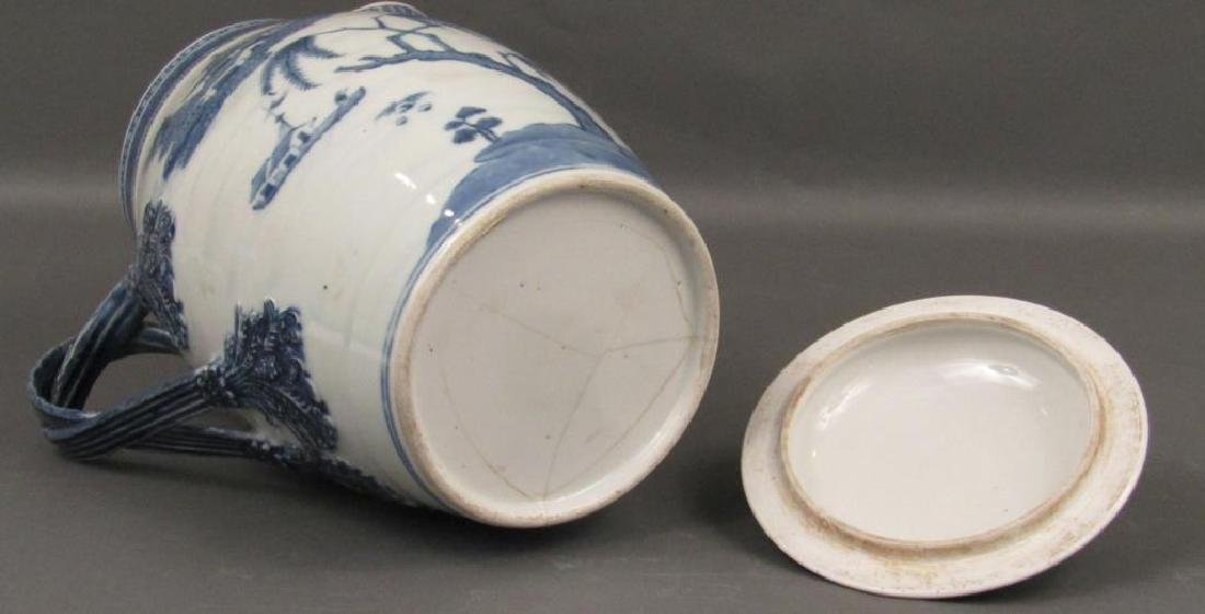 Chinese Blue and White Covered Pitcher - 8