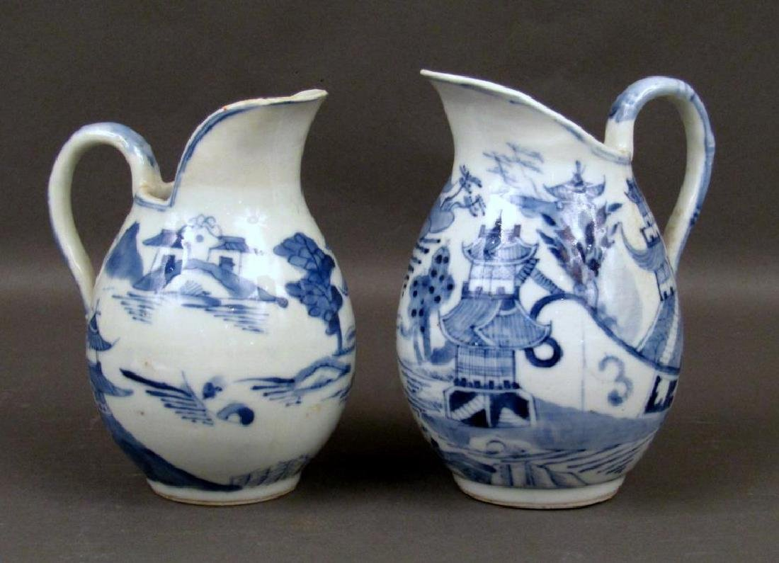 2 Chinese Blue and White Pitchers