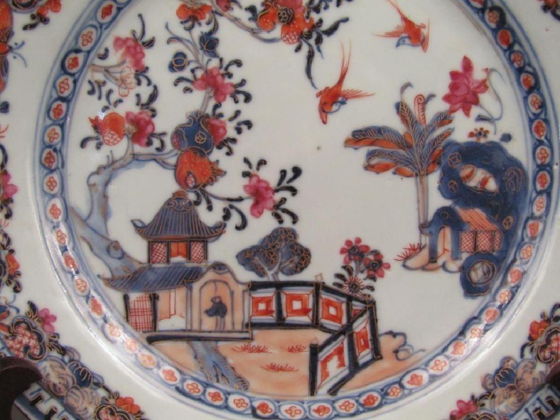 Pair Chinese Imari Porcelain Plates - 5