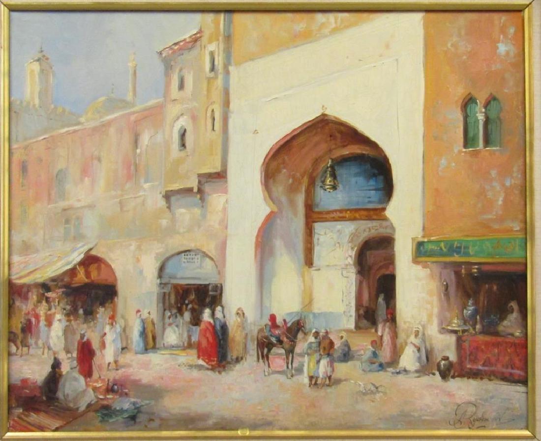 Framed Arabian Scene Giclee