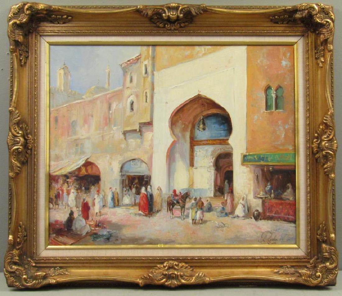 Framed Arabian Scene Giclee - 2