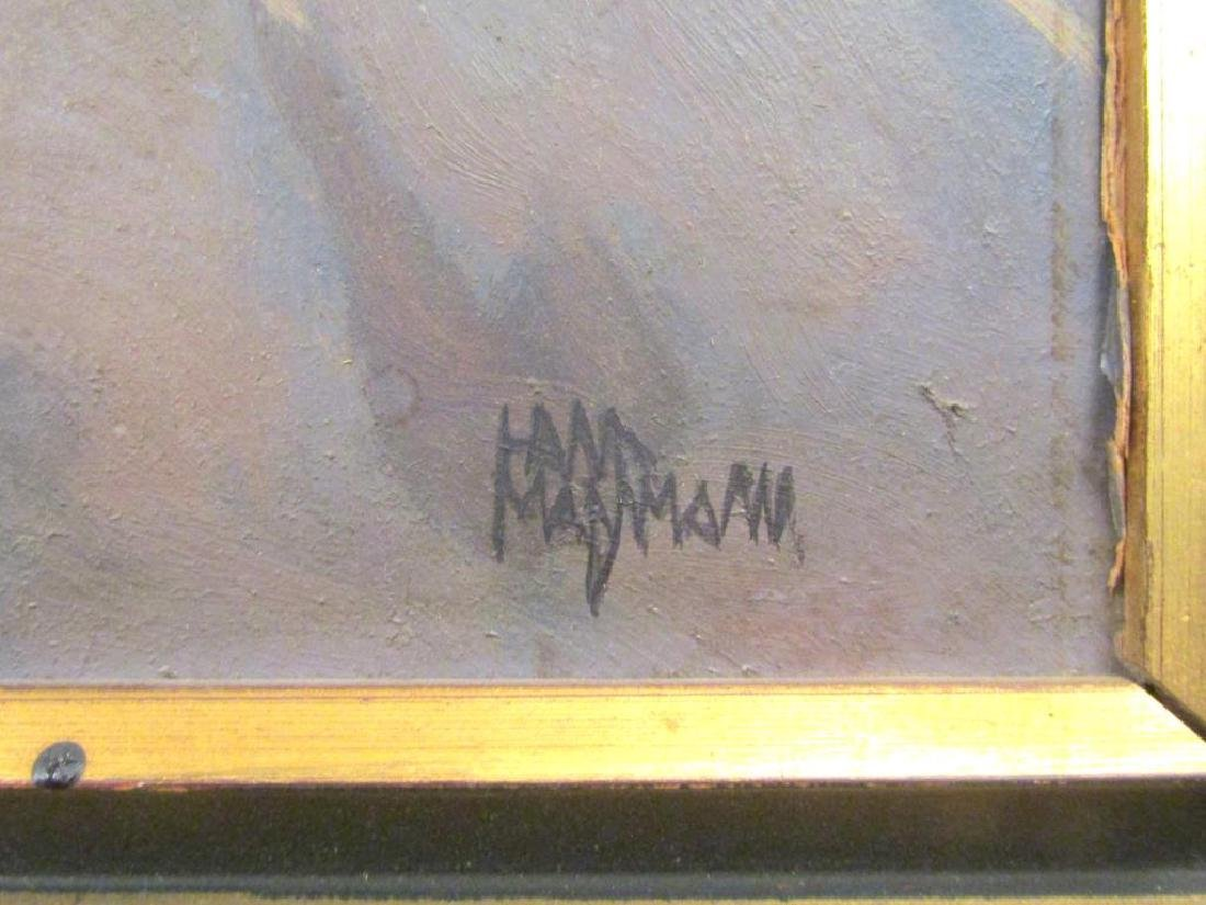 Signed Illegibly - Oil on Board - 4
