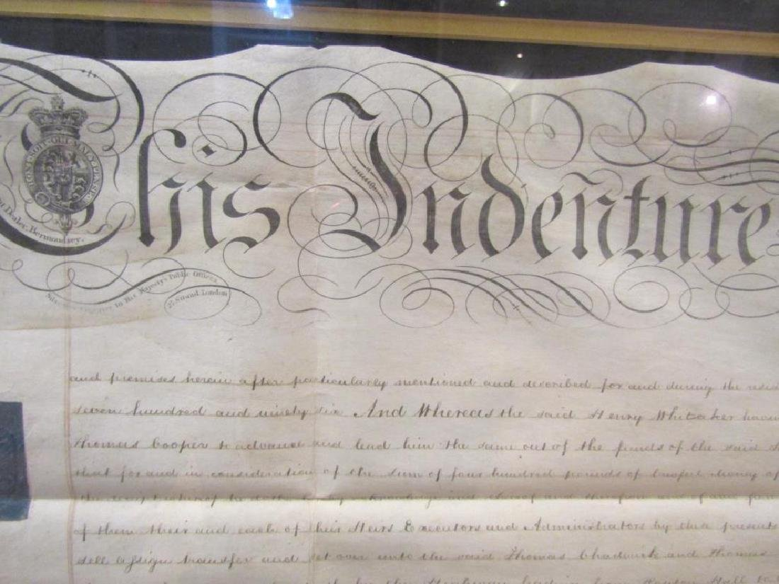 Large Framed Indenture Document - 3