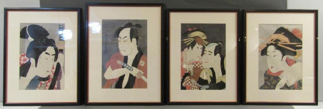 4 Japanese Woodblock Prints