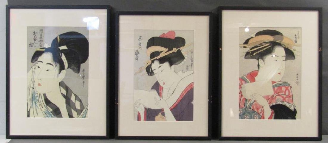 3 Japanese Woodblock Prints