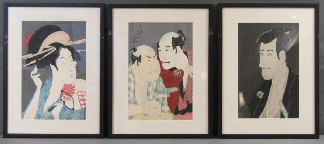 3 Japanese Woodblock Prints