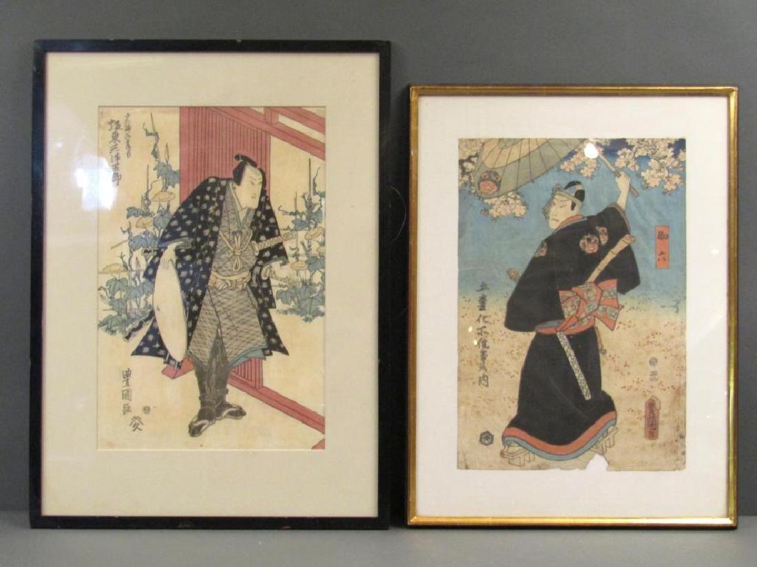 2 Japanese Woodblock Prints
