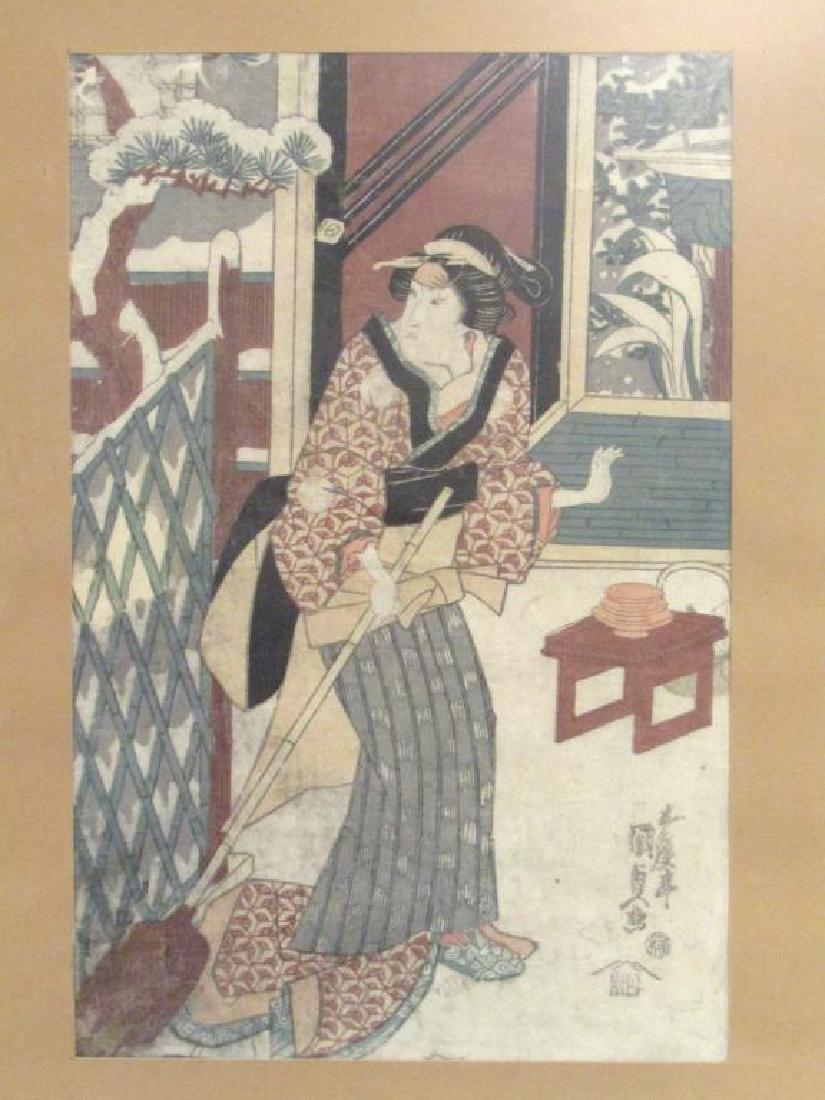 4 Japanese Woodblock Prints - 10