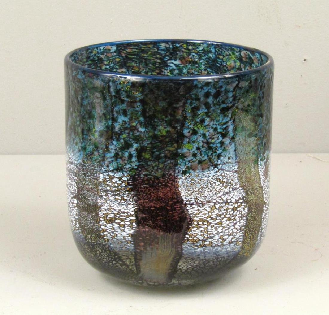 Colorful Signed Art Glass Vase