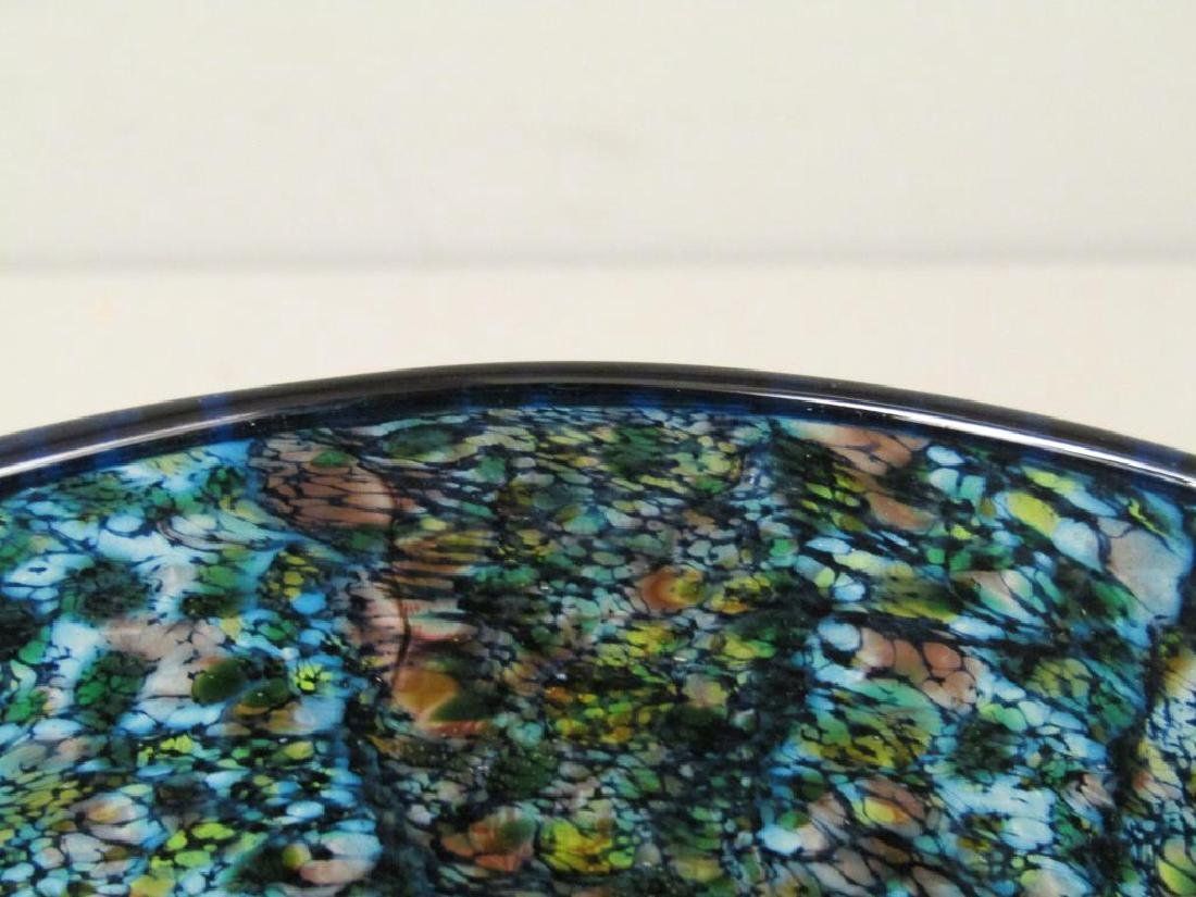 Colorful Signed Art Glass Vase - 3