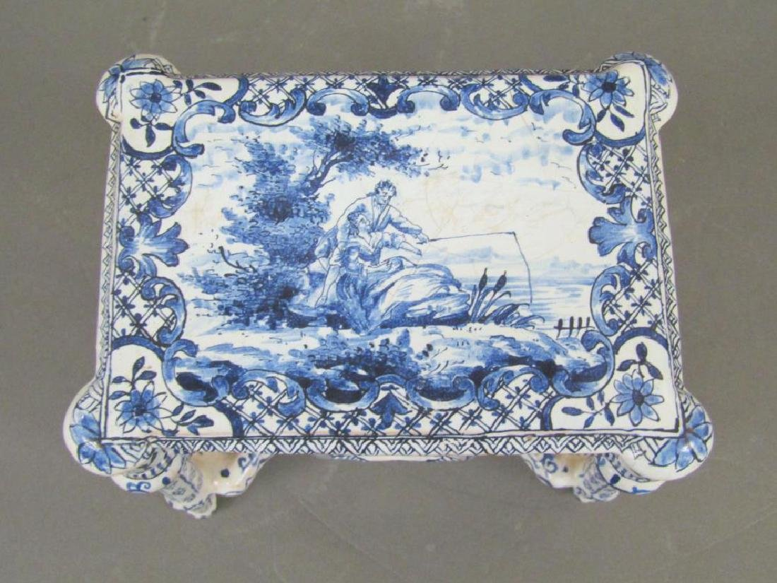 Antique Delft Miniature Center Table (as is) - 2
