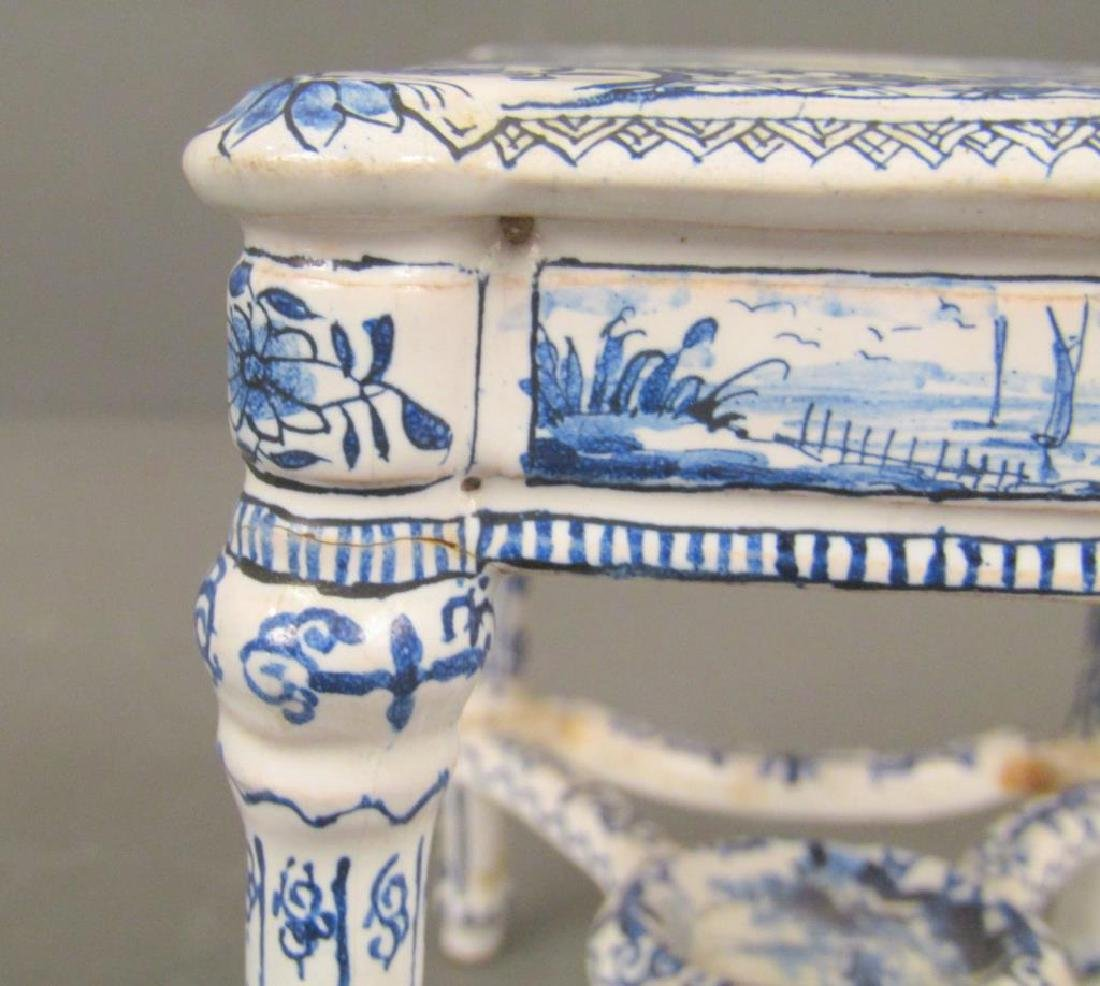 Antique Delft Miniature Center Table (as is) - 3