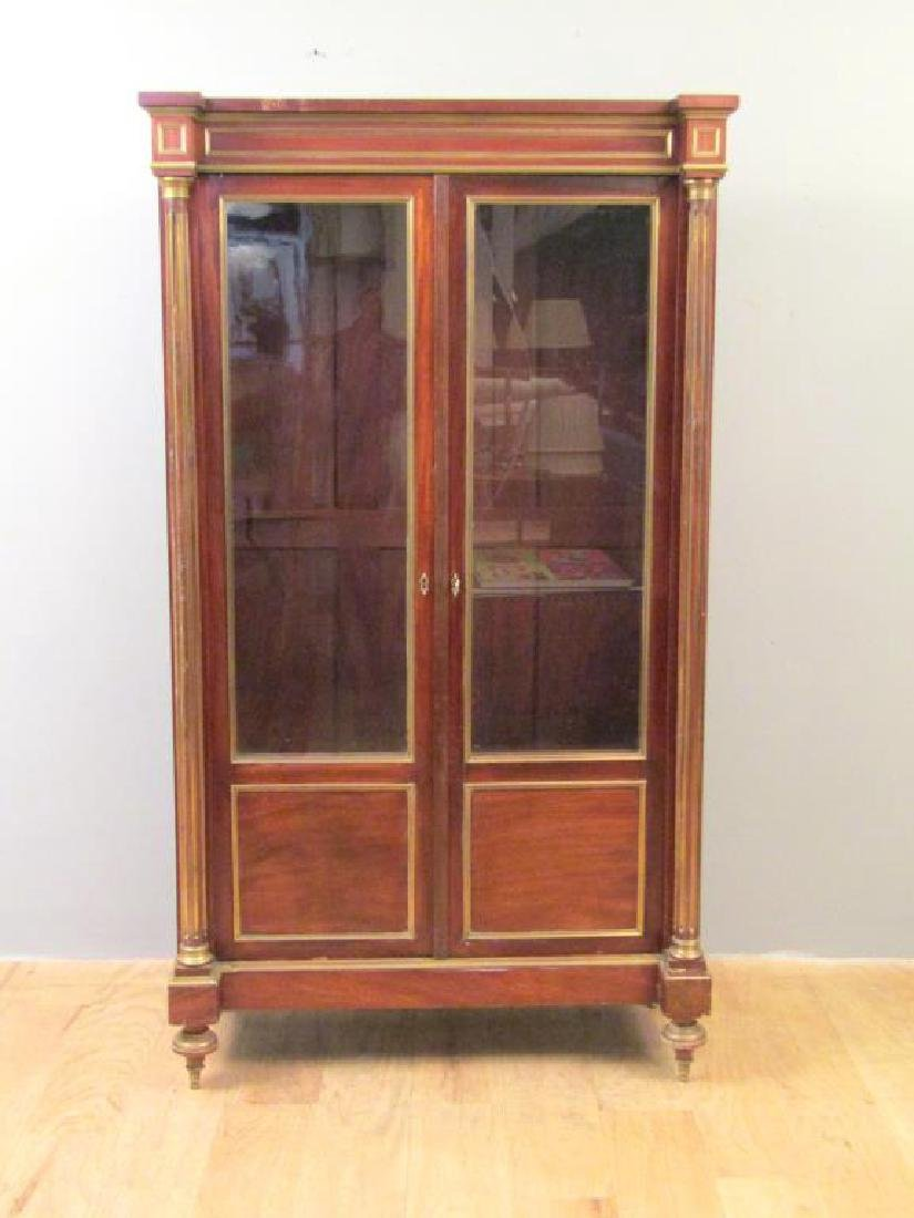 Antique French Vitrine Cabinet / Bibliotheque
