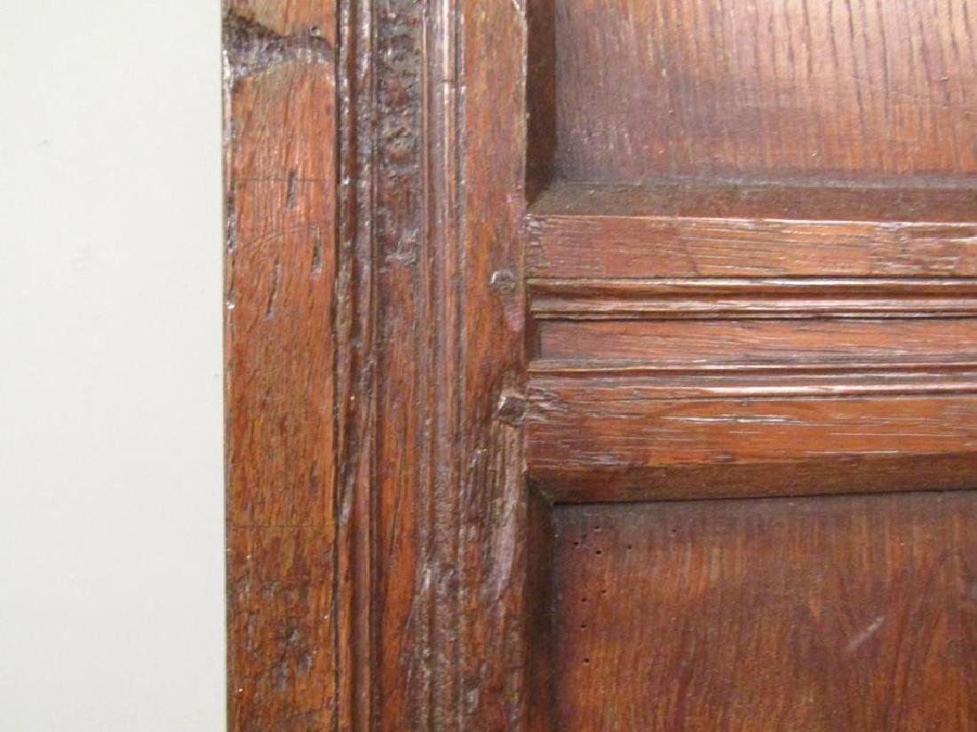Antique French 4 Panel Oak Screen - 2
