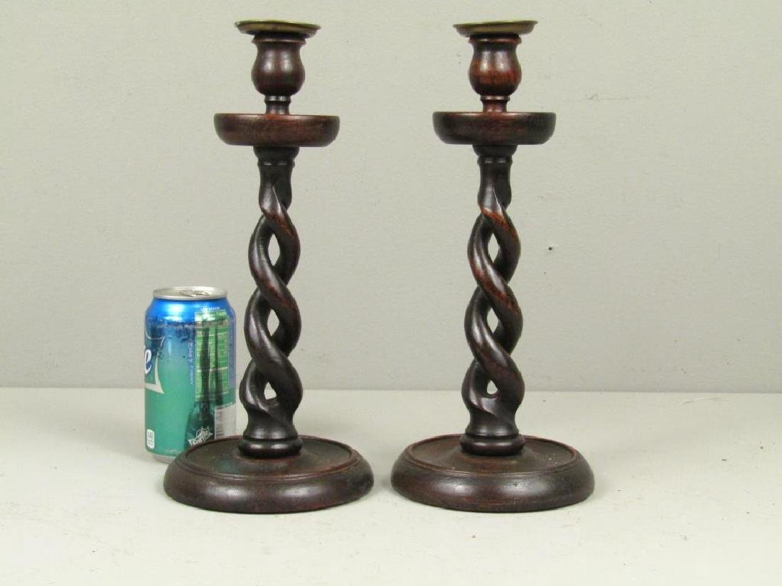Papier Mache Tray with Pair Candlesticks - 5
