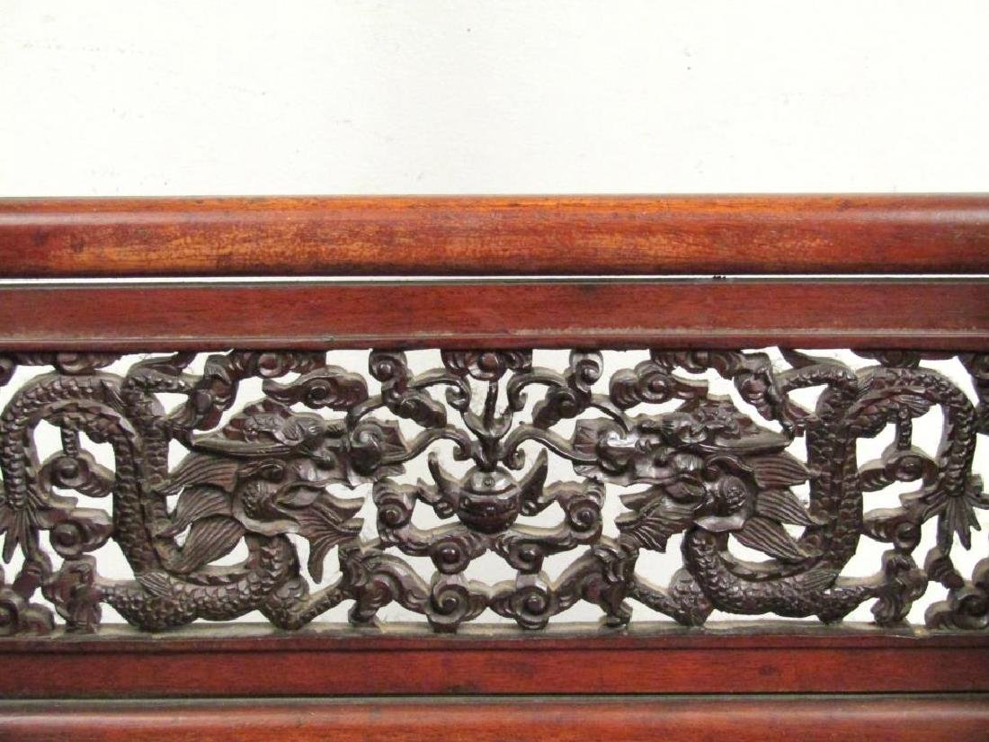Chinese Carved Wood Gong Stand - 6