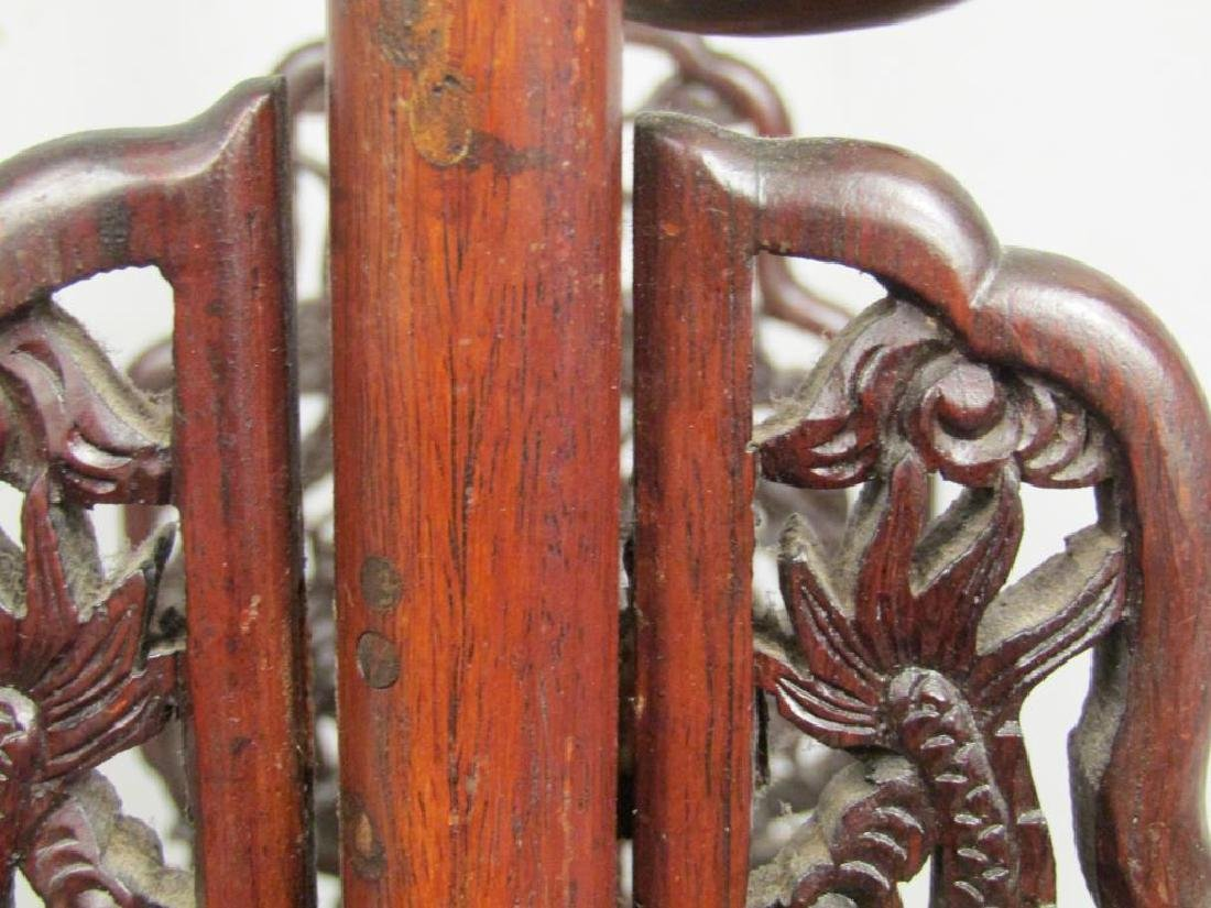 Chinese Carved Wood Gong Stand - 8