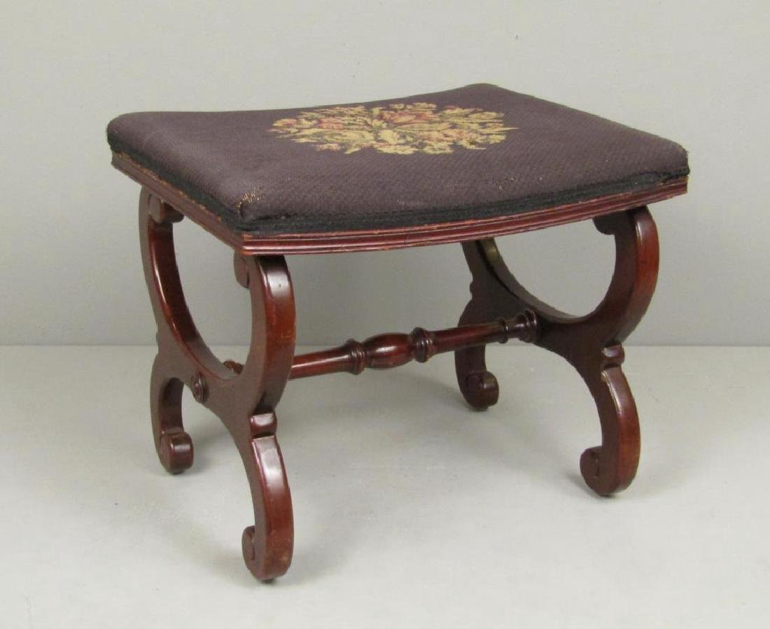 Fallon & Helen Mahogany Foot Stool