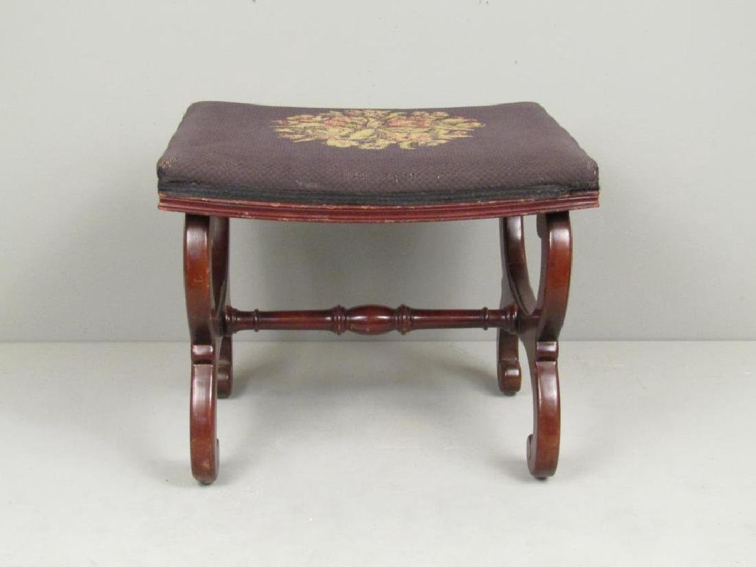 Fallon & Helen Mahogany Foot Stool - 2