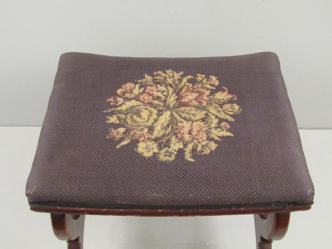 Fallon & Helen Mahogany Foot Stool - 3