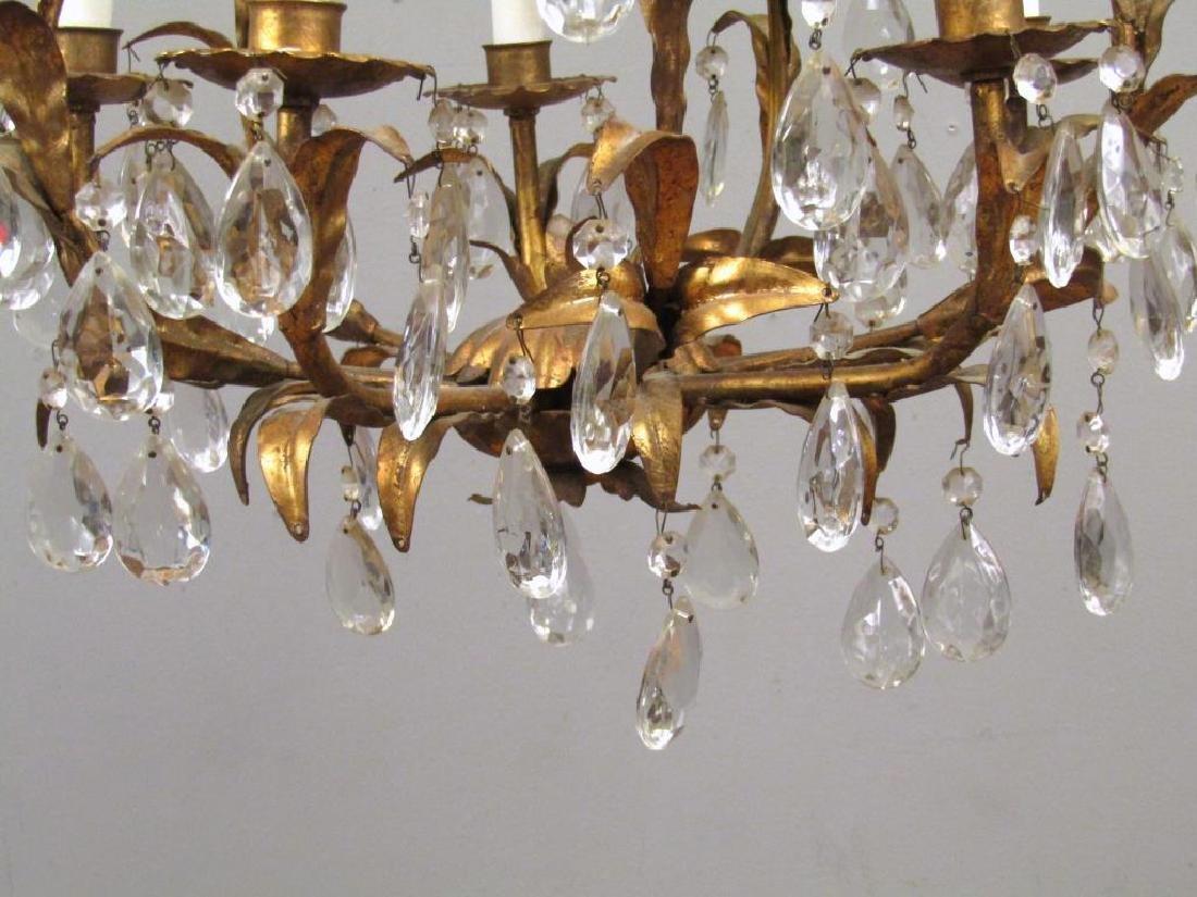 Hollywood Regency 5 Light Tole Chandelier - 5