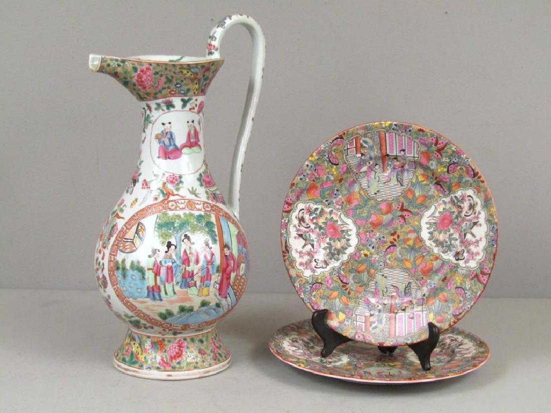 Chinese Rose Medallion Porcelain Serving Articles