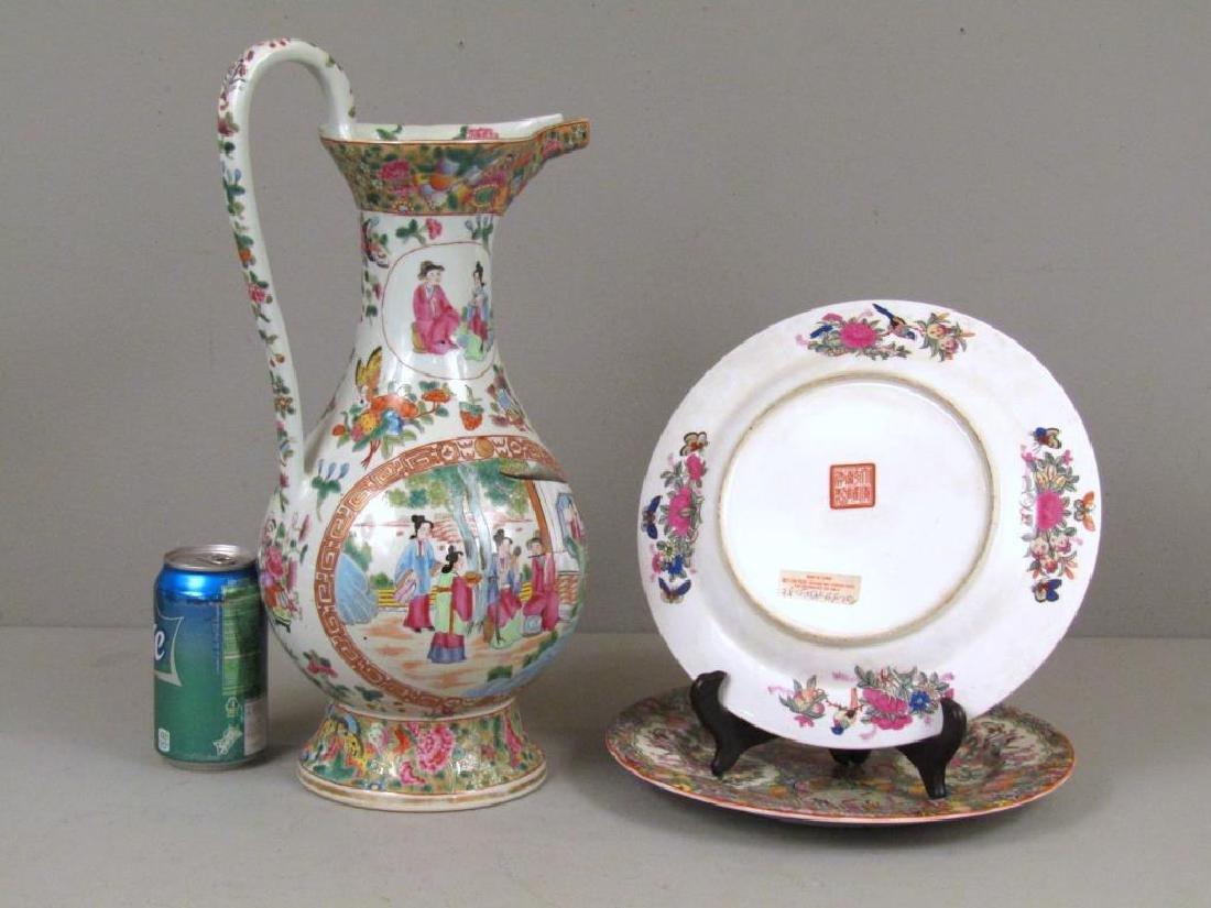 Chinese Rose Medallion Porcelain Serving Articles - 2