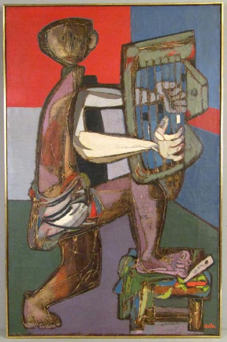 Jankel Adler (Polish 1895 - 1949) Oil