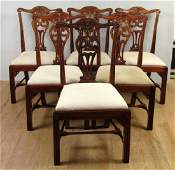 Set of 6 English Style Side Chairs