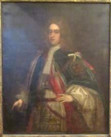 Unsigned - Antique English Oil Portrait on Canvas